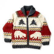 Patons True North Knit Jacket, XS/S
