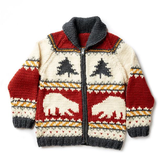 Patons True North Knit Jacket Xss Pattern Yarnspirations