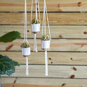 Red Heart Knotted Plant Hangers
