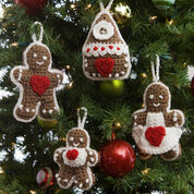 Go to Product: Red Heart Gingerbread Tree Ornaments in color