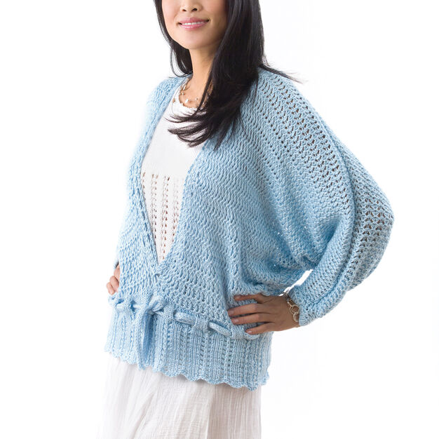 Caron Lacy Dolman Pullover, S in color