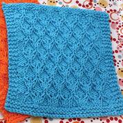Lily Sugar'n Cream Honeycomb Check Dishcloth