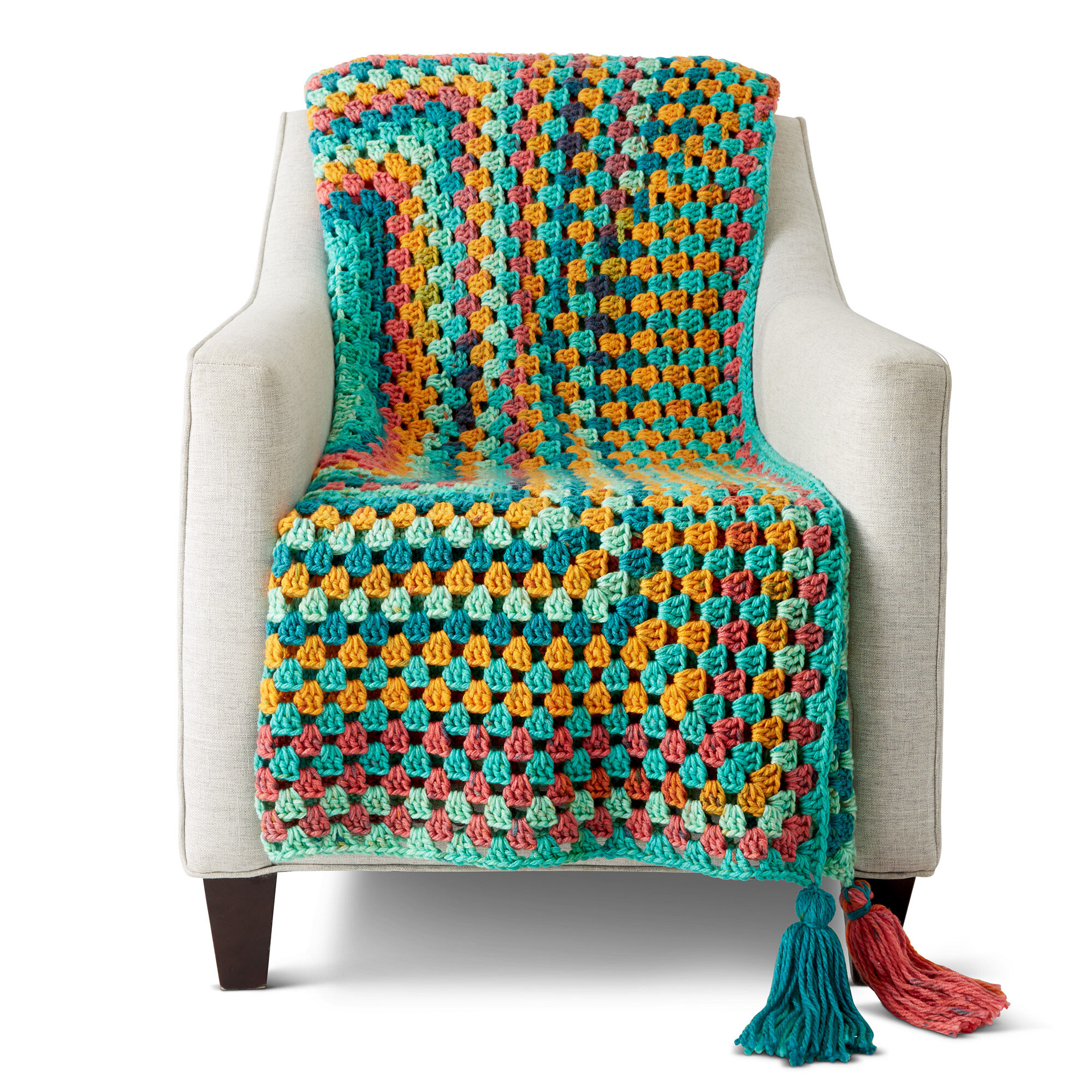 Caron Granny Rectangle Crochet Afghan Pattern Yarnspirations