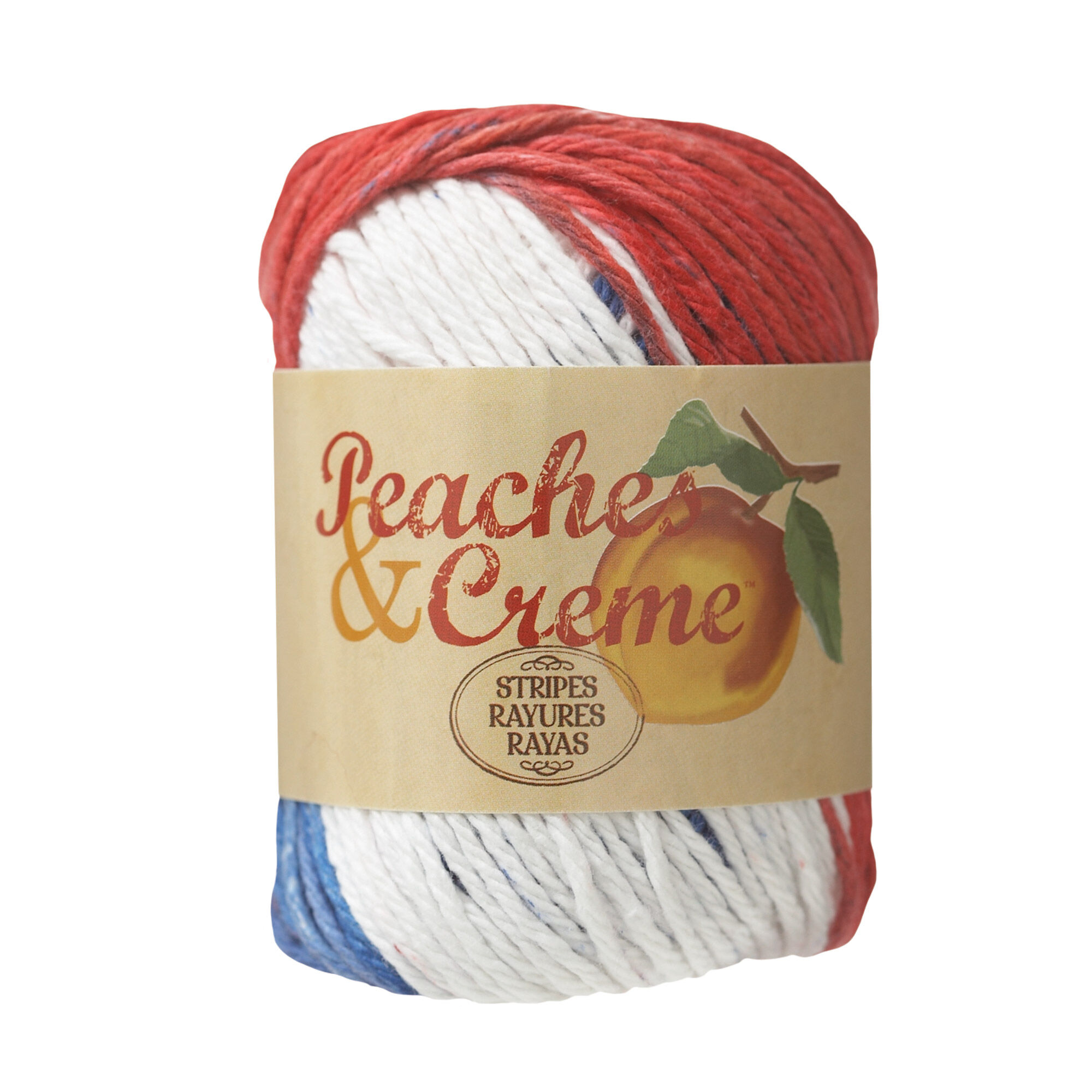 Peaches & Creme Stripes Yarn, Stars and Stripes - Clearance