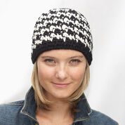 Patons Houndstooth Hat, Version 1