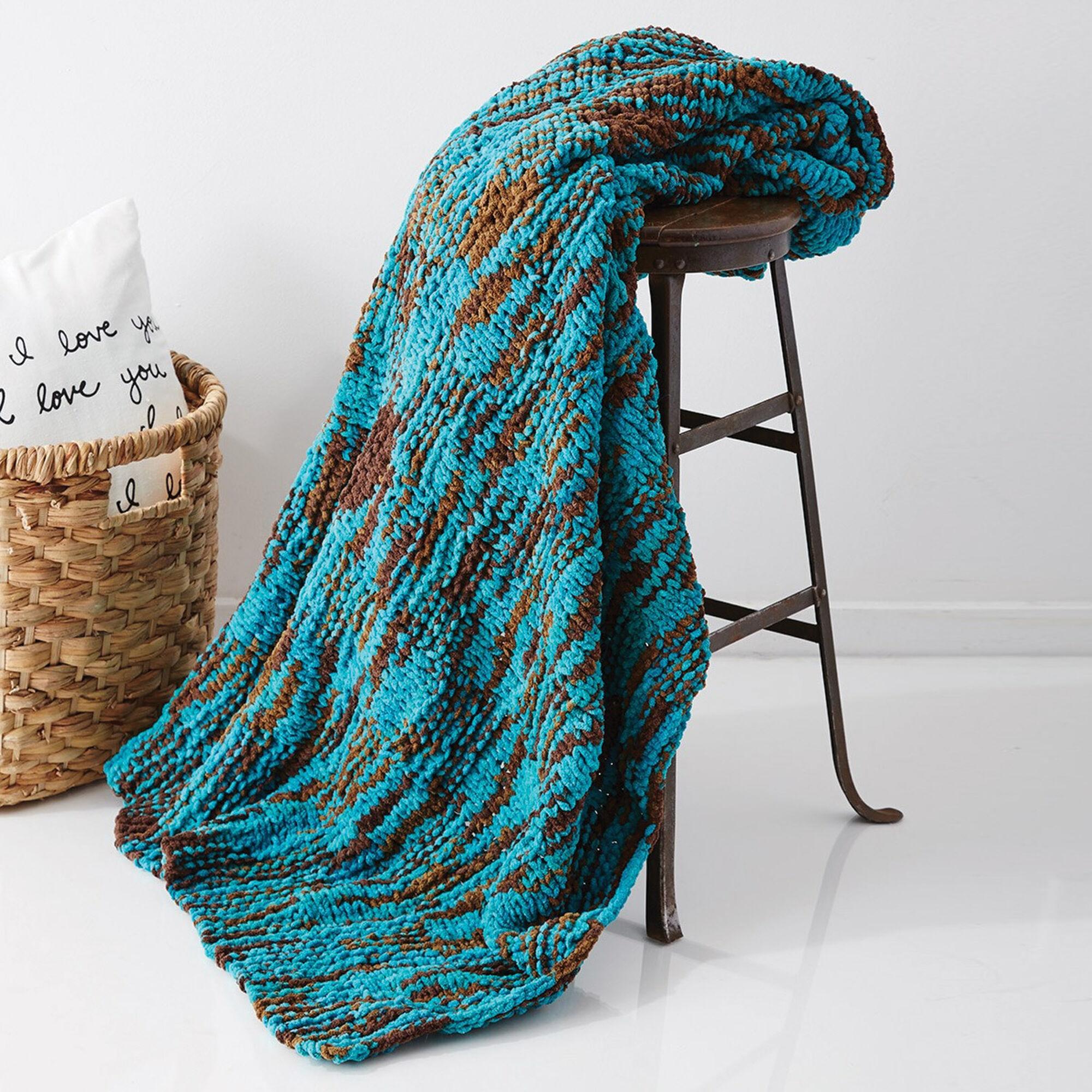 Bernat Big Basketweave Blanket | Yarnspirations