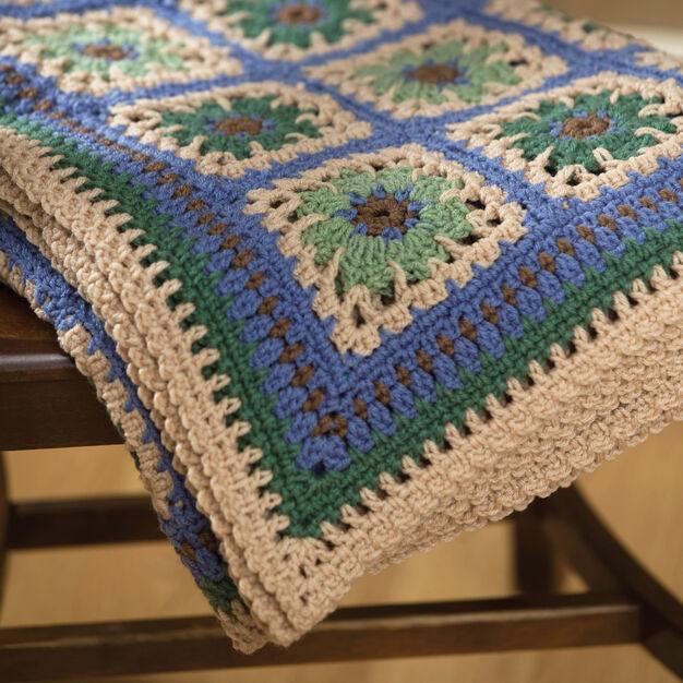 Red Heart Crochet Restful Tiles Throw in color