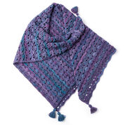 Patons Wrapped in Waves Crochet Blanket Shawl