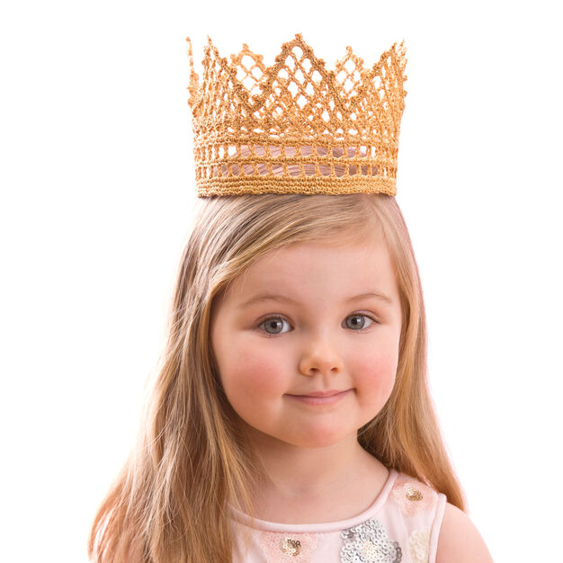 "Red Heart Child's Royal Crown, 15"" in color"