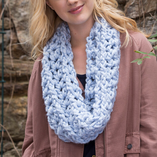 Red Heart Horizontal Ribbed Cowl