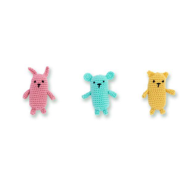 Caron Crochet Amigurumi Friends in color