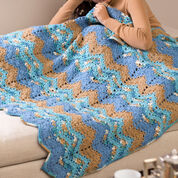 Red Heart Rippling Waters Throw