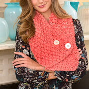 Red Heart Lovely Buttoned Neck Warmer
