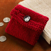 Red Heart Knit Change Purse