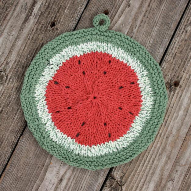 Lily Sugar'n Cream Melon Dishcloth in color