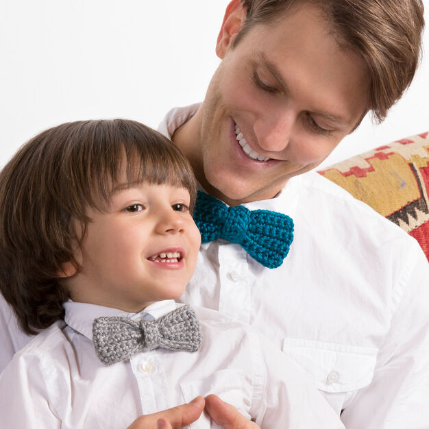 Red Heart Bow Ties for the Guys, Child in color
