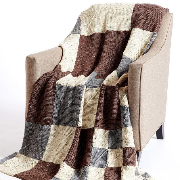 Caron Building Blocks Knit Blanket in color