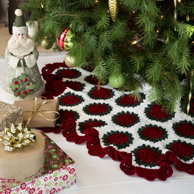 Red Heart Victorian Tree Skirt in color