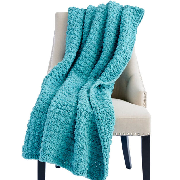 Bernat Tiny Bubbles Crochet Blanket in color