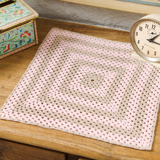 Aunt Lydia's Sophisticated Square Doily in color