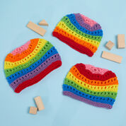 Red Heart Color for Everyone Knit Hats