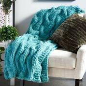 Go to Product: Bernat Jumbo Tuck Stitch Shadow Cables Knit Blanket in color