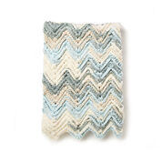 Bernat Raised Chevron Crochet Afghan