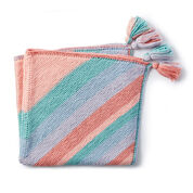Caron Four Corners Knit Blanket
