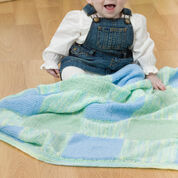 Go to Product: Red Heart Easy Squares Knit Baby Blanket in color