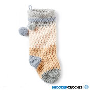Bernat Pop! Crochet Christmas Stocking