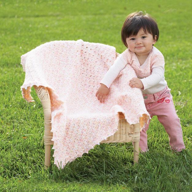 Bernat Pretty Clusters Blanket in color