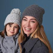 Bernat All in the Family Hats, Light Gray - Adult