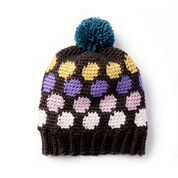 Go to Product: Caron x Pantone Polka-Dotty Crochet Hat in color