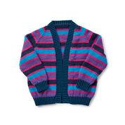 Caron x Pantone Cropped Raglan Knit Cardigan, XS/S