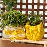 Bernat Slouchy Crochet Plant Pot Cozy, Small