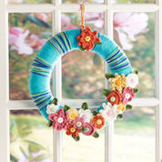 Red Heart April Flowers Wreath