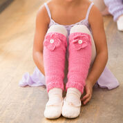 Red Heart Ballerina Bloom Leg Warmers, 4 yrs