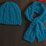 Go to Product: Red Heart Cable Beanie & Scarf, Womens in color