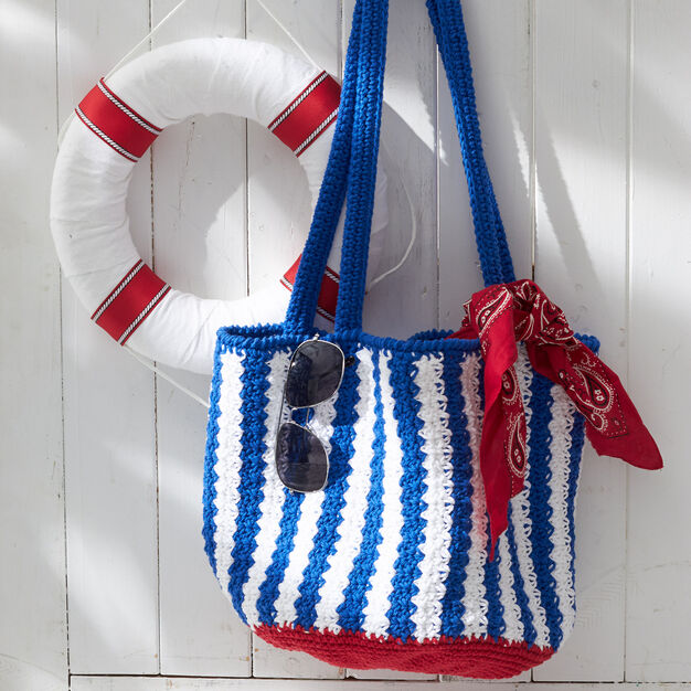Lily Sugar'n Cream Nautical Striped Bag in color