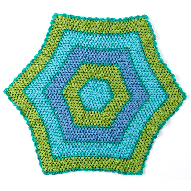 Red Heart Beach Time Hexagon Blanket in color