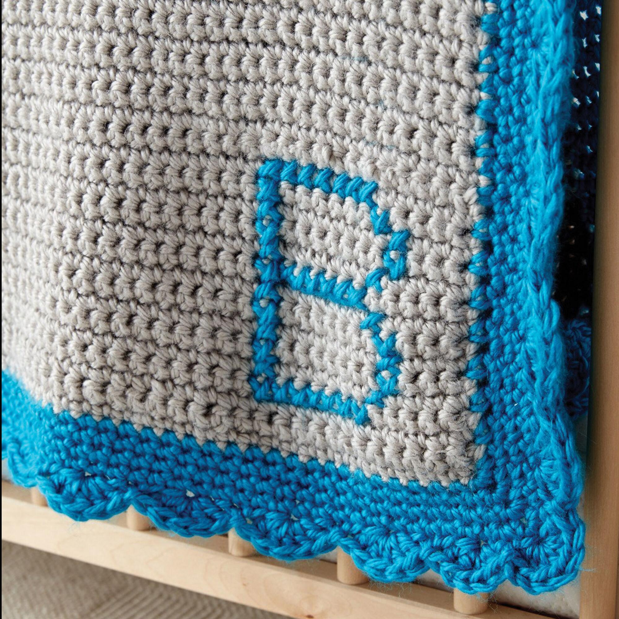 Bernat Crochet Monogram Baby Blanket | Yarnspirations