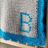 Bernat Crochet Monogram Baby Blanket