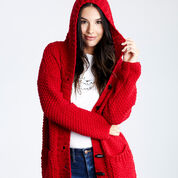 Red Heart Lazy Day Chic Sweater, XS