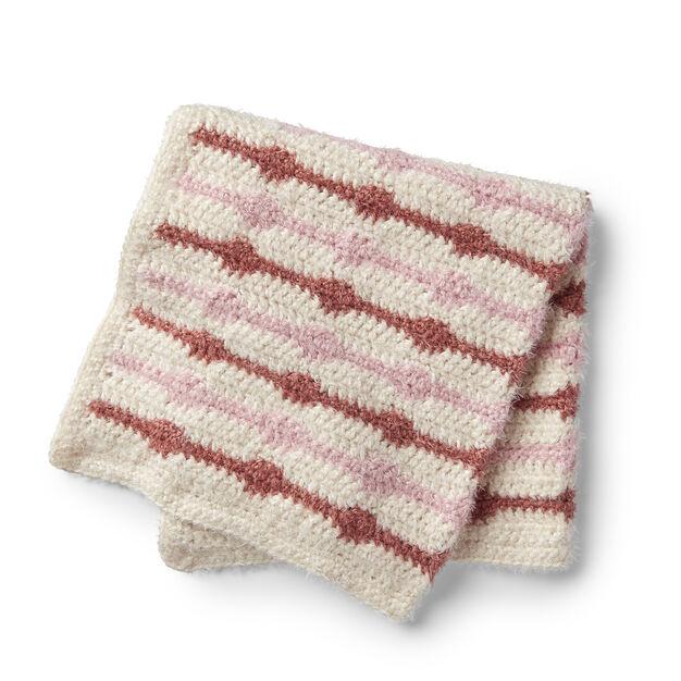 Red Heart Crochet Friendship Baby Blanket in color