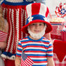 Red Heart Uncle Sam Hat and Beard, S in color  Thumbnail Main Image 1}