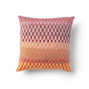 Bernat Fantastic Fair Isle Knit Pillow
