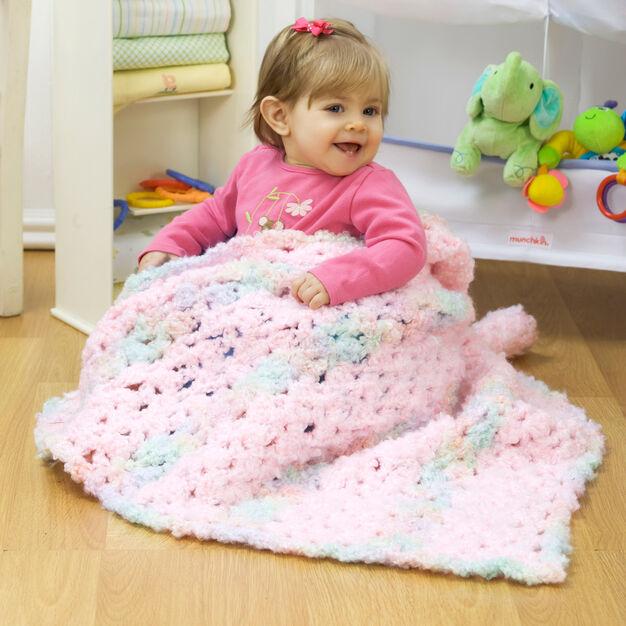 Red Heart Sweet Dreams Crochet Blanket in color