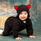 Red Heart Baby Black Cat Costume, 6 mos
