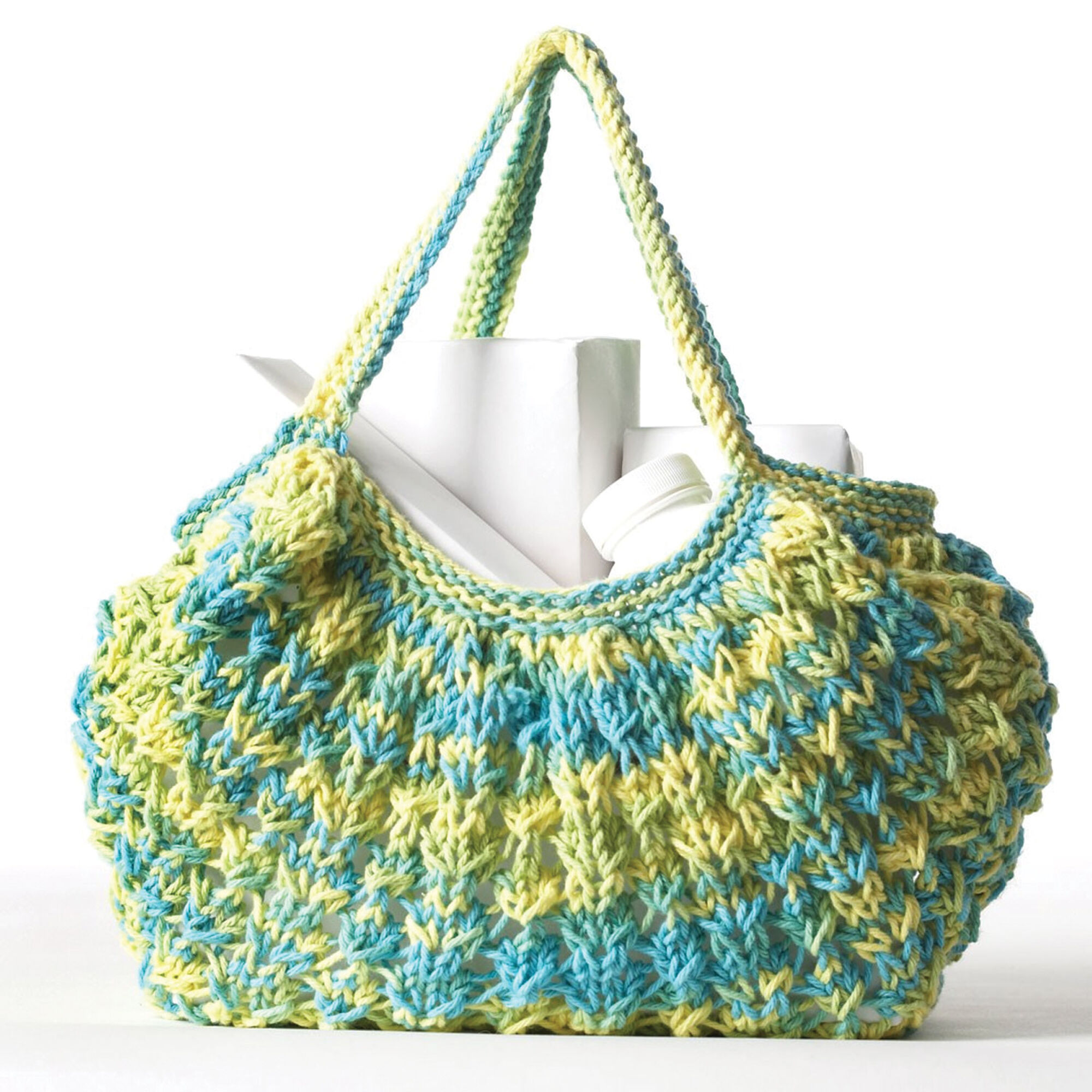 Bernat Casual Knit Market Bag Pattern | Yarnspirations