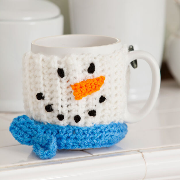Red Heart Snowman Mug Hug in color
